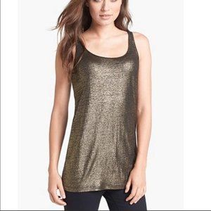 Eileen Fisher gold and black tank